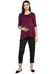Solid Black Pant – MomSoon Maternity and Nursing Wear
