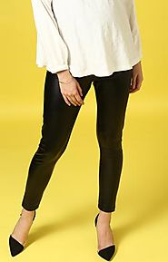 Momsoon Maternity Leatherette Leggings – MomSoon Maternity and Nursing Wear