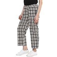 Checkered Ankle Length Trousers – MomSoon Maternity and Nursing Wear