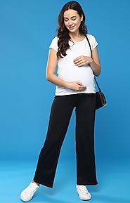 Bottoms: Maternity Bottom Dresses at momsoon.in – MomSoon Maternity and Nursing Wear