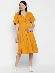 "The ""Twisted Knot"" Dress – MomSoon Maternity and Nursing Wear"
