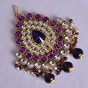 Purple Color Kundan Side Maang Tikkas