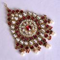 Maroon Color Kundan Side Maang Tikkas