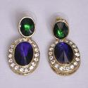Green And Drak Color Cute Earrings