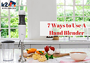 Top Uses Of A Hand Blender - K2appliances