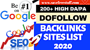 200+ High DA/PA Do Follow Backlinks Sites List 2020 | Instant Approval