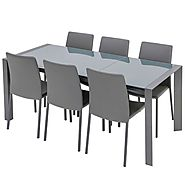 High-Quality Brindley Grey Glass Extendable Dining Table