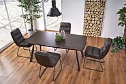Laid Back Design Adrian Dark Walnut Dining Table