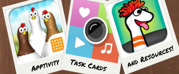 Headline for Apptivity Task Cards and Resources
