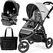 Book Cross Atmosphere Peg Perego Travel Systems with a Diaper Bag
