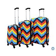 Bright Color Chevron Luggage Sets on Wheels