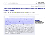 Towards an understanding of social media use in the classroom: a literature review