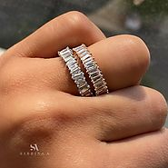 ZigZag Baguette Eternity Band | 3 Colors | 18 K Gold | Sabrina