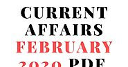 Current Affairs February 2020 pdf download - StudyNoteBD | Free Study Materials and Notes