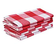 Napkins - Buffalo Checked Napkins - Red and White Checkered Napkins Set of 6 - All Cotton and Linen - Amazon
