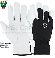 Men's assembly gloves with fleece lining
