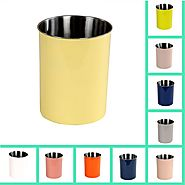 Buy Stainless Steel Waste Basket Online at Better Trends
