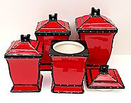 Italian Tuscan Red Canister Sets
