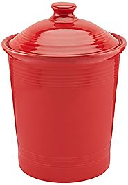 Large Red Kitchen Canisters