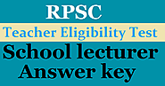 RPSC School Lecturer Answer key 2020 Released @ rpsc.rajasthan.gov.in.