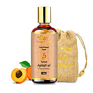 O4U Organic Cold Pressed Turkish Apricot Oil for Hair and Skin Care