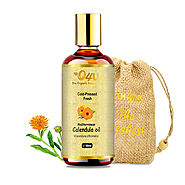 O4U Mediterranean Calendula Cold Pressed Freshest Organic Oil for Skin, Pain-Relief, and Aftershave Oil 100% Fresh an...