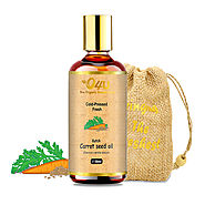 O4U Organic Cold Pressed Kutch Carrot Seed oil For Face, Anti-aging, Wrinkle and Haircare