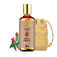 O4U Organic cold-pressed Gandhi Nagar Castor oil for Thick Hair, eyelashes and eyebrows