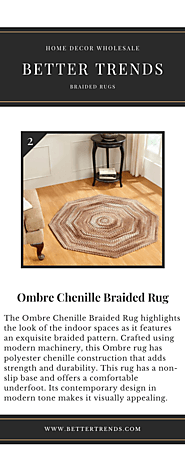 Buy Ombre Chenille Braided Rug Online At Better Trends