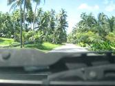 Driving in Laura village : Marshall Islands, Majuro