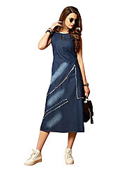 Style yourself with Denim kurtis