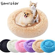 Shop for Soft Plush Round Shape Bed for Puppy |ShoppySanta