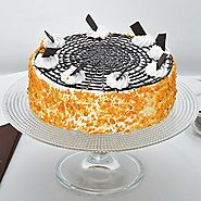 Artistic Butterscotch Cake