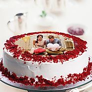 Red Velvet Photo Cake - Bakery