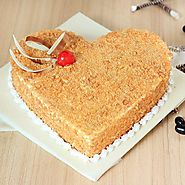 Butterscotch Heart Cake - Bakery