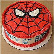 Creamy Spiderman Cake - Bakery