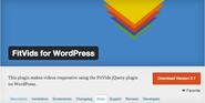 "WordPress › FitVids for WordPress "" WordPress Plugins"