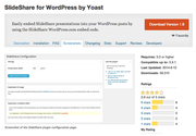 "WordPress › SlideShare for WordPress by Yoast "" WordPress Plugins"