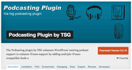 "WordPress › Podcasting Plugin by TSG "" WordPress Plugins"