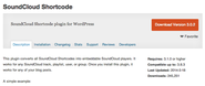 "WordPress › SoundCloud Shortcode "" WordPress Plugins"