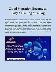 Cloud Migration Become as Easy as Falling off a Log