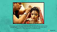 • First, make sure that your makeup artist has worked with Asian brides before. Asian brides have a more olive or yel...