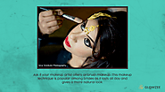 • Ask if your makeup artist offers airbrush makeup. This makeup technique is popular among brides as it lasts all day...