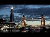 UHD Ultra HD 4K Video Stock Footage London Tower Bridge Day and Night England United Kingdom