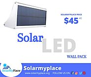 Get utmost illumination through LED Solar Wall Pack-solarmyplace