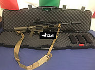 Lancer Tactical AR-15 AEG Airsoft Rifle OD Green W/ Addons
