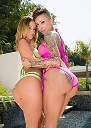 Sexy besties Bella Bellz & Jada Stevens enjoy deep anal in outdoor 3some