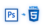 convert psd to html online | slicing psd to html