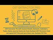 OST to PST Converter Software - OST Extractor Pro