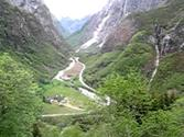 Norway in a nutshell, Bus Gudvangen-Voss, The Stalheimskleiva Road, Norway, part 2